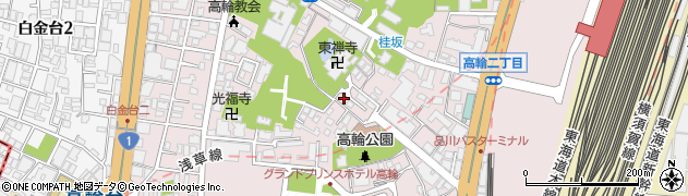 東京都港区高輪周辺の地図