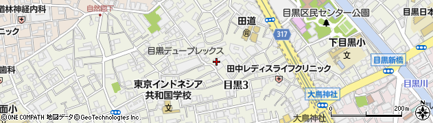 目黒ホームズ周辺の地図