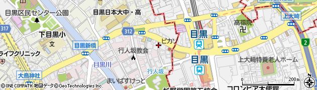 ハングリーヘブン目黒店周辺の地図