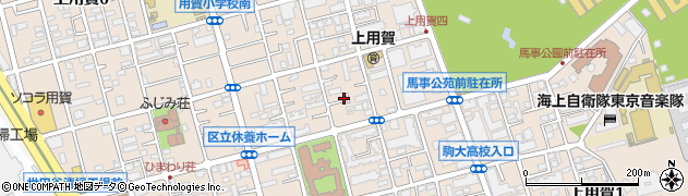 東京都世田谷区上用賀周辺の地図