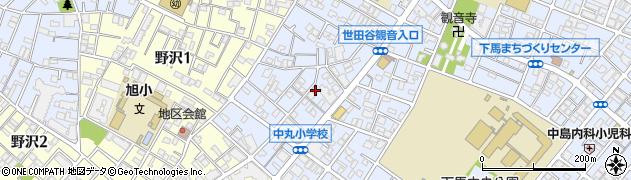 東京都世田谷区下馬周辺の地図