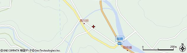 岐阜県中津川市付知町(稲荷)周辺の地図