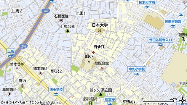 〒154-0003 東京都世田谷区野沢の地図