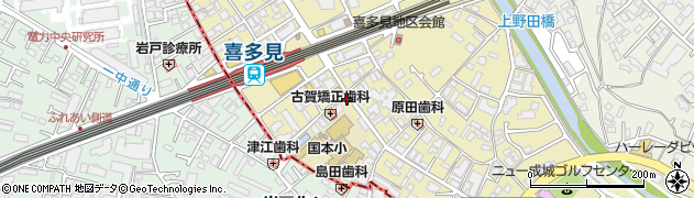 東京都世田谷区喜多見周辺の地図