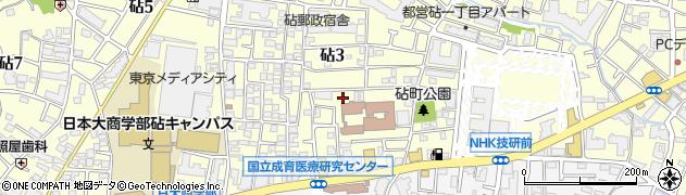 東京都世田谷区砧周辺の地図