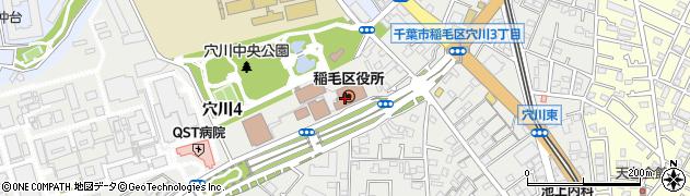 千葉県千葉市稲毛区周辺の地図