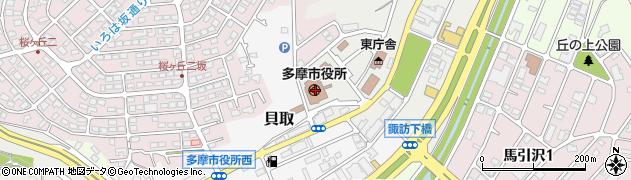 東京都多摩市周辺の地図