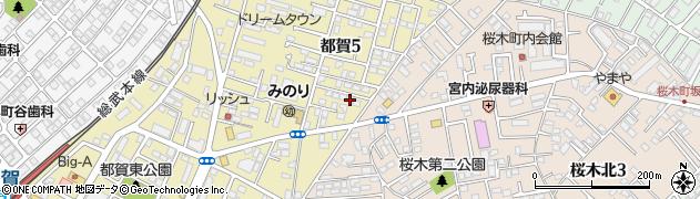 千葉県千葉市若葉区都賀5丁目4-9周辺の地図