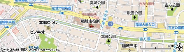 東京都稲城市周辺の地図