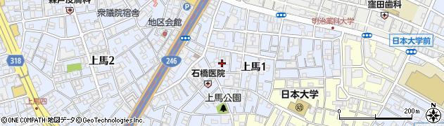 東京都世田谷区上馬周辺の地図