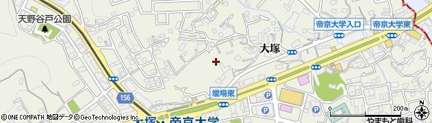 東京都八王子市大塚周辺の地図