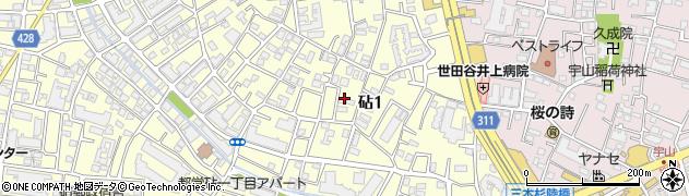東京都世田谷区砧1丁目周辺の地図