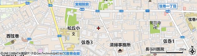 東京都世田谷区弦巻周辺の地図