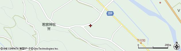岐阜県中津川市付知町(野尻)周辺の地図
