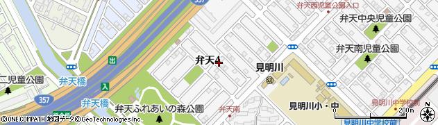 千葉県浦安市弁天周辺の地図