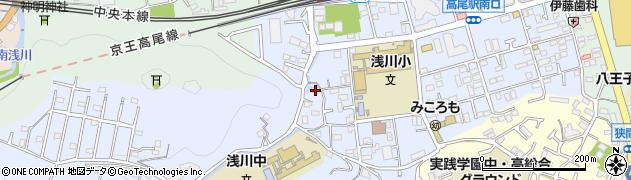 東京都八王子市初沢町1360周辺の地図