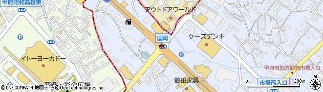 国母周辺の地図