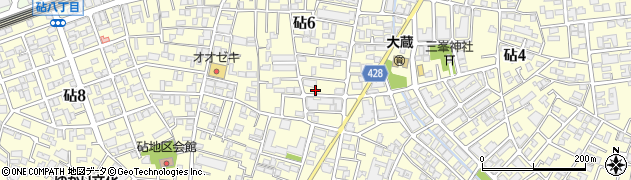 東京都世田谷区砧6丁目周辺の地図