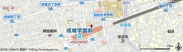 東京都世田谷区成城周辺の地図