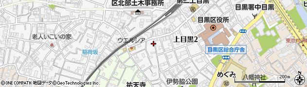 東京都目黒区上目黒周辺の地図