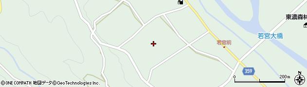 岐阜県中津川市付知町(若宮)周辺の地図