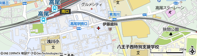 東京都八王子市初沢町1279-1周辺の地図