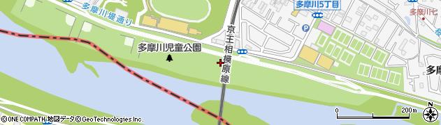 東京都調布市上布田町周辺の地図