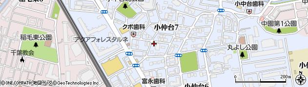 千葉県千葉市稲毛区小仲台7丁目 住所一覧から地図を検索