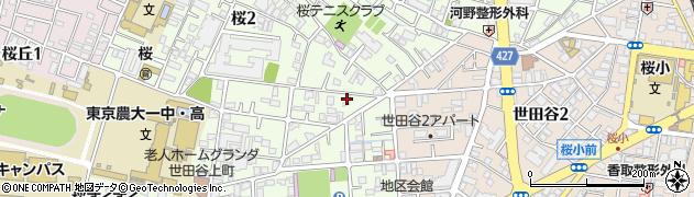 東京都世田谷区桜周辺の地図