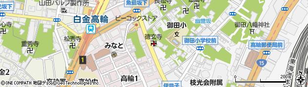 徳玄寺周辺の地図