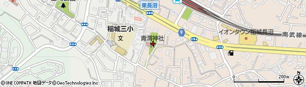 青渭神社周辺の地図