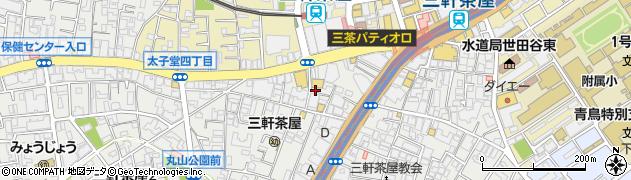 VANSAN 三軒茶屋店周辺の地図