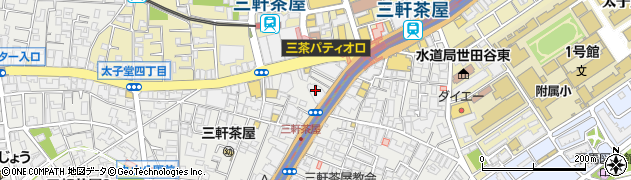 東京都世田谷区三軒茶屋周辺の地図