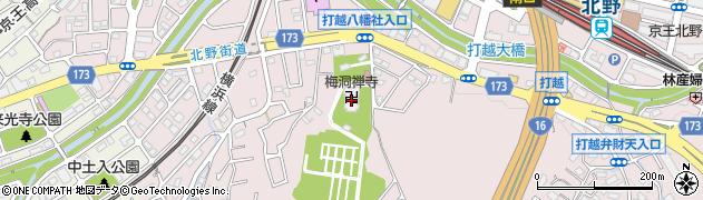 梅洞寺周辺の地図