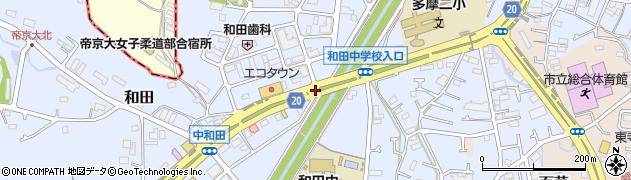 殿田橋周辺の地図