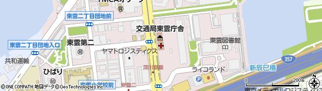 東京都江東区東雲周辺の地図