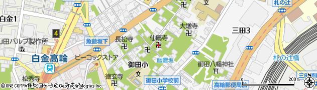 仙翁寺周辺の地図