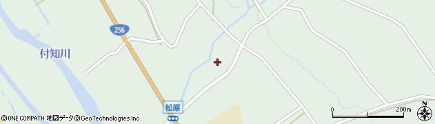 岐阜県中津川市付知町(松原)周辺の地図