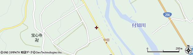岐阜県中津川市付知町(下広屋)周辺の地図