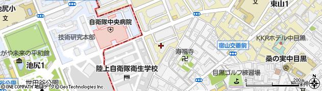 防衛省東山宿舎周辺の地図