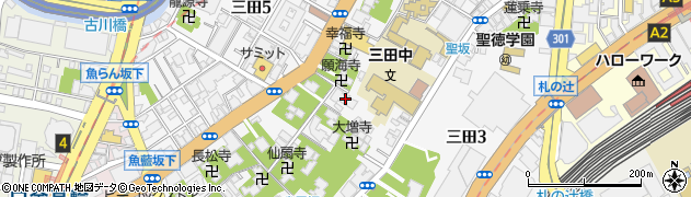 東京都港区三田4丁目4-17周辺の地図