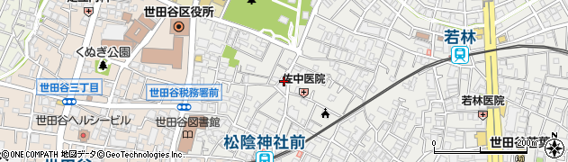 東京都世田谷区若林周辺の地図