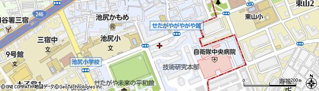 防衛省共済組合住宅周辺の地図