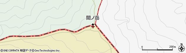 間ノ岳周辺の地図