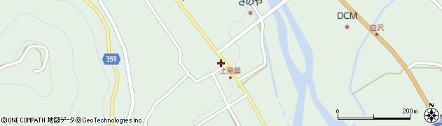 岐阜県中津川市付知町(上広屋)周辺の地図