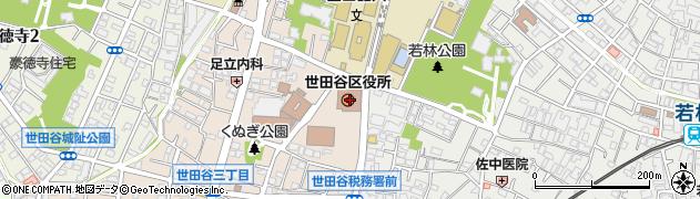 東京都世田谷区周辺の地図