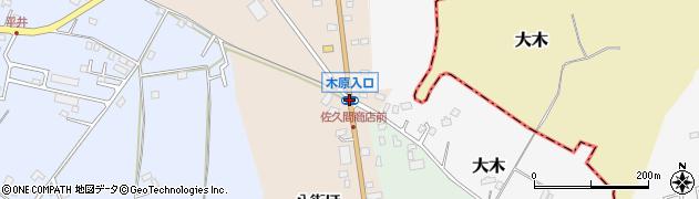 木原入口周辺の地図