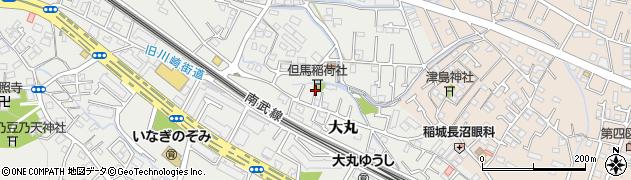 但馬稲荷神社周辺の地図