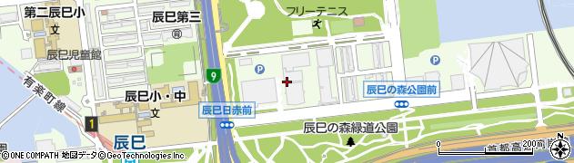 東京都江東区辰巳周辺の地図