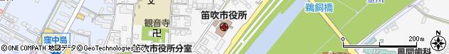 山梨県笛吹市周辺の地図